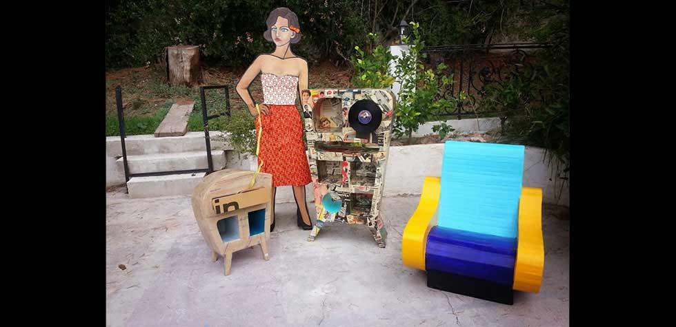 Création de meubles en carton Suzy Foscolo